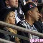 trio 150x150 Beyoncè, Jay Z e David Beckham allo stadio di Parigi