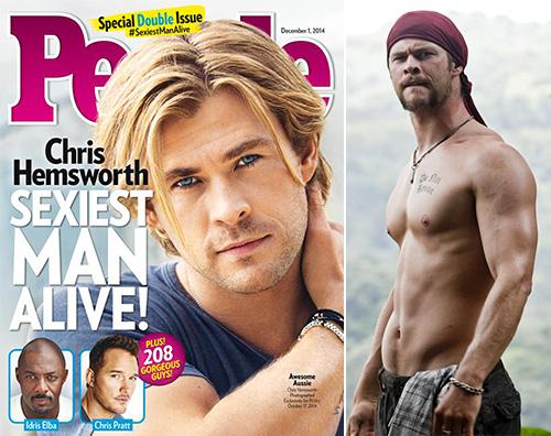 Chris Chris Hemsworth è luomo più sexy del mondo