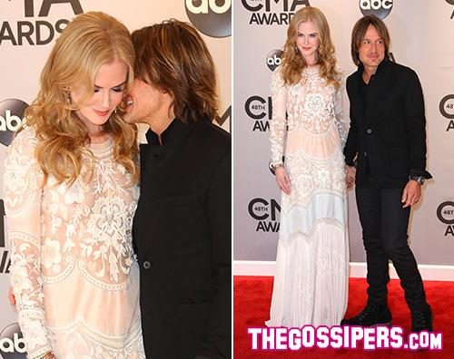Keith e Nicole Nicole Kidman e Keith Urban ai CMAs 2014