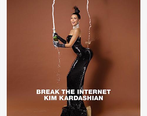 Kim Kim Kardashian nuda su Paper Magazine
