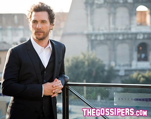 Matthew 2 Matthew McConaughey a Roma per Interstellar