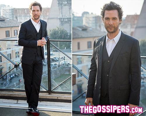 Matthew Matthew McConaughey a Roma per Interstellar