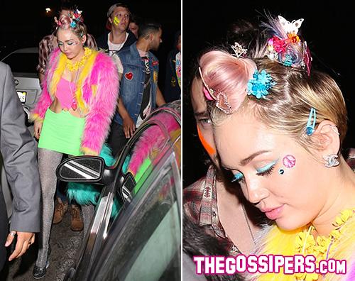 Miley3 Miley Cyrus in topless per il suo compleanno