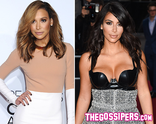 Naya VS Kim Naya Rivera VS Kim Kardashian, è polemica