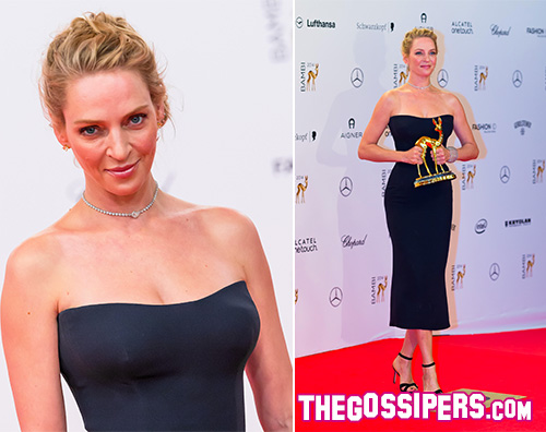 Uma Uma Thurman bellissima per i Bambi Awards 2014