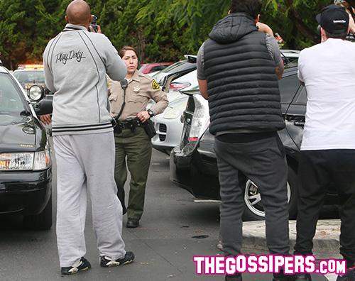 Halle Berry Halle Berry scortata dalla Polizia al supermarkert