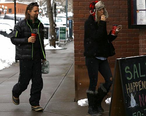KateHudson2 Kate Hudson e Matt Bellamy, vacanza tra ex ad Aspen