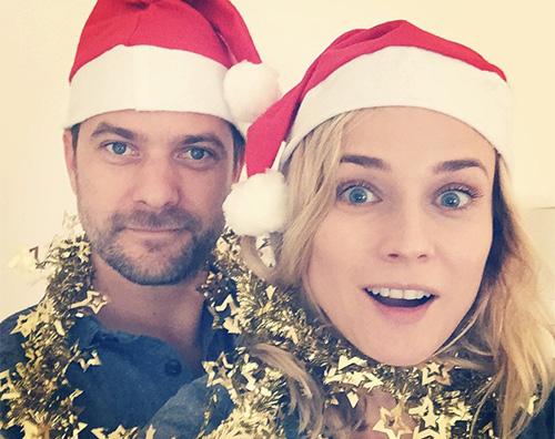 joshua e diane Selfie natalizio per Joshua e Diane