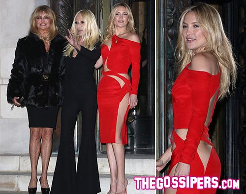 Kate hudosn Donatella Versace Goldie Hawn Kate Hudson e Goldie Hawn a Parigi per Versace