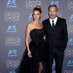 KevinCostner ChristineBaumgartner 150x150 Critics Choice Awards 2015: le foto del red carpet