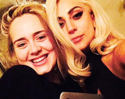 Lady Gaga Adele Lady Gaga e Adele insieme su Instagram