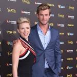 Chris e Scarlett 150x150 Scarlett Johannson in forma al GDay Gala 2015