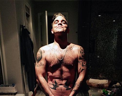Robbie Williams IG Robbie William nudo per il suo compleanno
