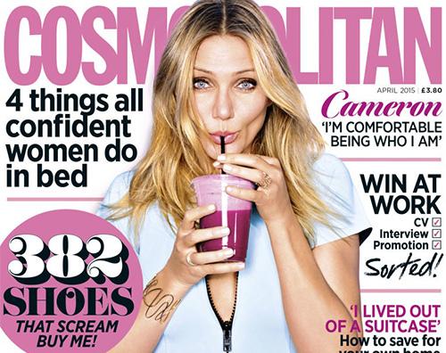 Cameron Diaz Cameron Diaz parla di benessere su Cosmopolitan UK