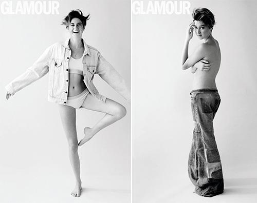 Shailene Woodley Glamour Shailene Woodley Sul set sono a mio agio con la nudità