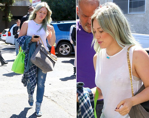 Hilary Duff I capelli blu di Hilary Duff sono già sbiaditi