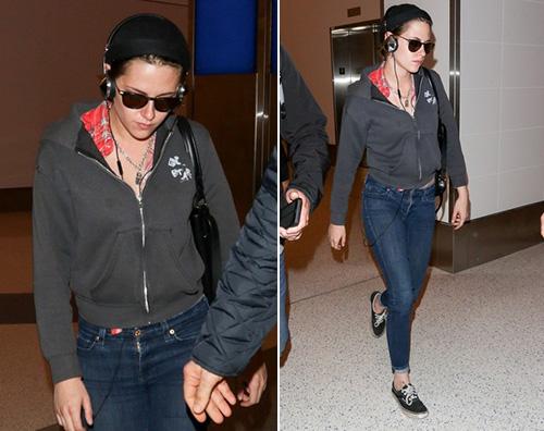 Kristen Stewart Kristen Stewart viaggia comoda