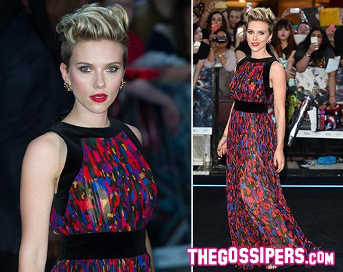 Scarlett1 Il cast di Avenger: Age Of Ultron arriva a Londra