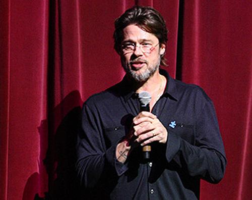 brad pitt livido occhio 2 Brad Pitt con un livido sotto locchio, cosa è successo?