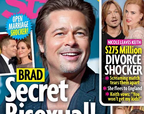 Brad Pitt Brad Pitt è bisessuale secondo Star