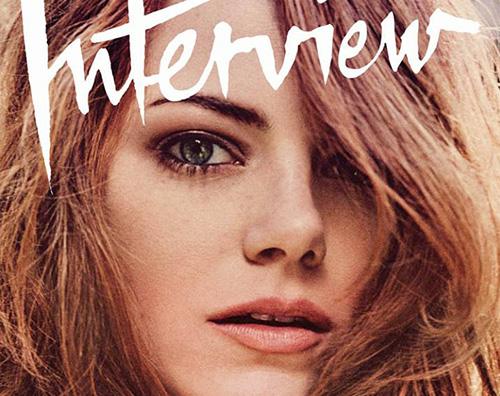 Emma Stone Interview Magazine Cover Emma Stone si racconta su Interview Magazine