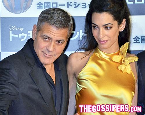 Geoge E Amal tokyo premiere tomorrowland George Clooney e Amal a Tokyo per Tomorrowland