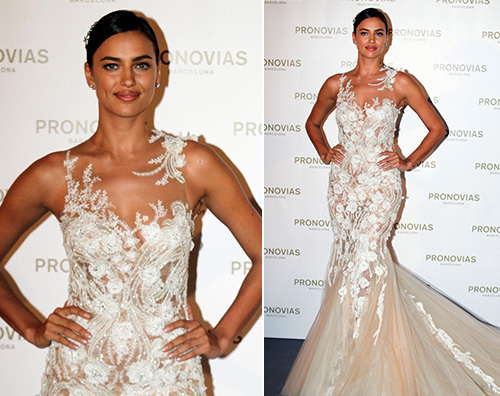 Irina Shayk Irina Shayk alla Barcelona Bridal Week