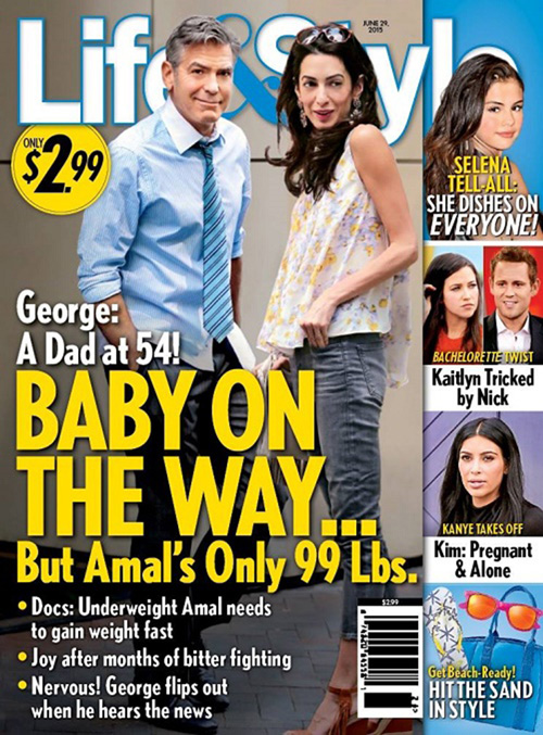 Cover2 Amal Alamuddin è incinta?