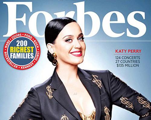 Katy Perry2 Katy Perry terza tra le Celebrity più pagate al mondo per Forbes