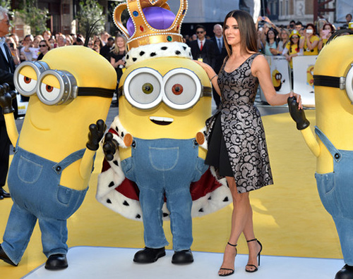 Sandra Sandra Bullock presenta Minions a Londra