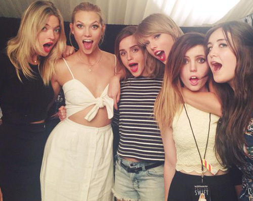 Taylor Emma Karlie Calvin Harris ha raggiunto Taylor Swift a Londra