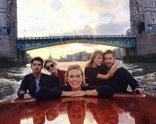 Taylor Karlie Calvin Joe Gigi Calvin Harris ha raggiunto Taylor Swift a Londra