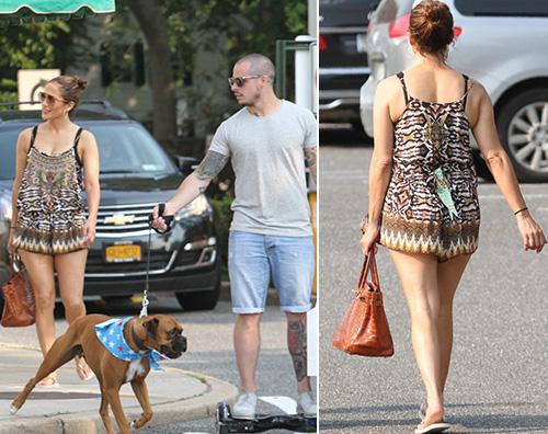 Jennifer Lopez Jennifer Lopez negli Hamptons con Casper