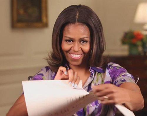 Michelle Obaba Michelle Obama apre la Casa Bianca ai social