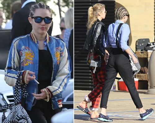 Miley Cyrus Stella Maxwell1 Miley Cyrus e Stella Maxwell, weekend di coppia