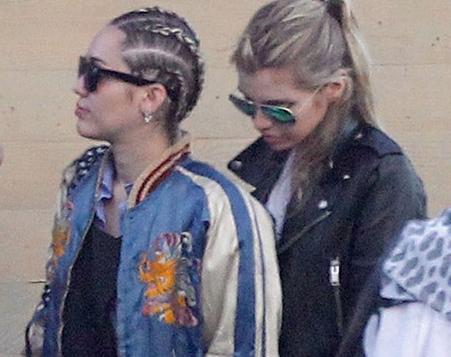 Miley Stella1 Miley Cyrus e Stella Maxwell, weekend di coppia