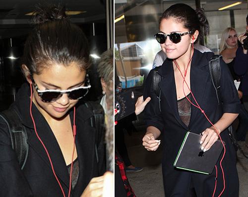 Selena Gomez21 Selena Gomez in total black a LAX