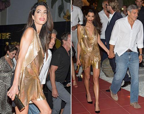 Amal George Amal Alamuddin troppo magra a Ibiza
