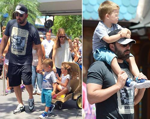 Bennifer 3 Ben Affleck e Jennifer Garner a Disneyland con i bambini