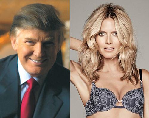 Donald Trump Heidi Klum Heidi Klum, un video su Facebook per Donald Trump
