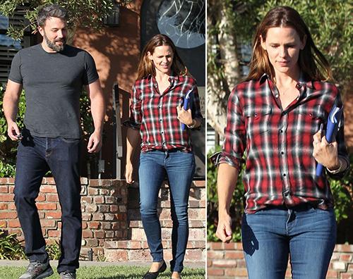 Jennifer Garner e Ben Affleck Jennifer e Ben insieme e sorridenti a Santa Monica