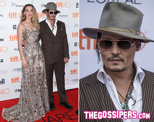 Johnny Depp 2 Johnny Depp arriva a Toronto con Amber