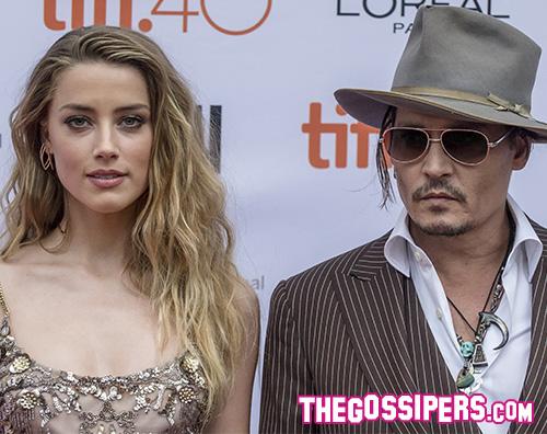 Johnny Depp e Amber Heard1 Johnny Depp arriva a Toronto con Amber