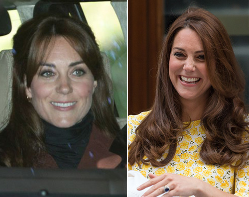 Kate Middleton prima e dopo Kate Middleton cambia look