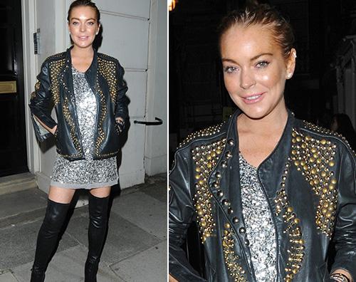 Lindsay Lohan Lindsay Lohan a Londra durante la Fashion Week