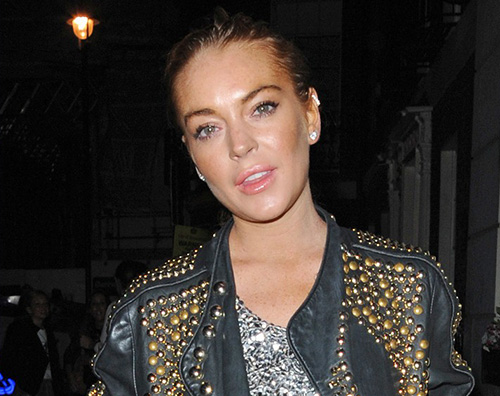 Lindsay Lindsay Lohan a Londra durante la Fashion Week
