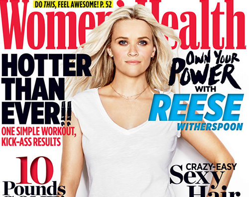 Reese Witherspoon Reese Witherspoon sulla cover di Womens Health