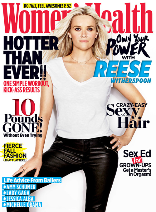 Reese Reese Witherspoon sulla cover di Womens Health