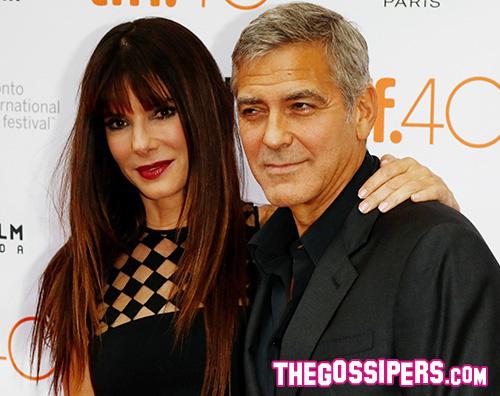 Sandra Bullock George Clooney Sandra Bullock arriva a Toronto con Clooney