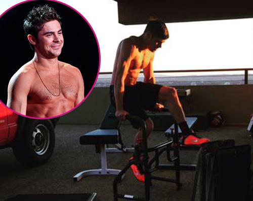 Zac Efron Zac Efton allenamento sexy su Twitter